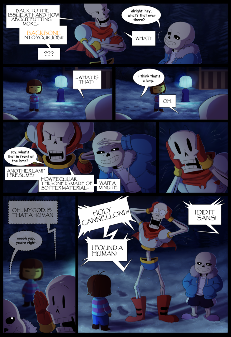 Sans, you done goofed    I dunno, I guess I was just wondering what the skele-bros were up to around that Undyne enconter X3 no point really lol