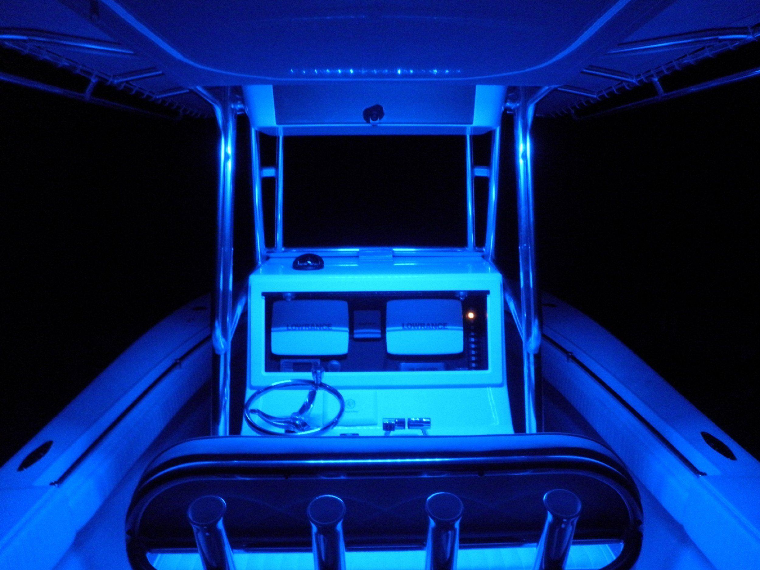 4x Blue LED Boat Light Waterproof 12v Deck Storage Kayak Bow Trailer Bass