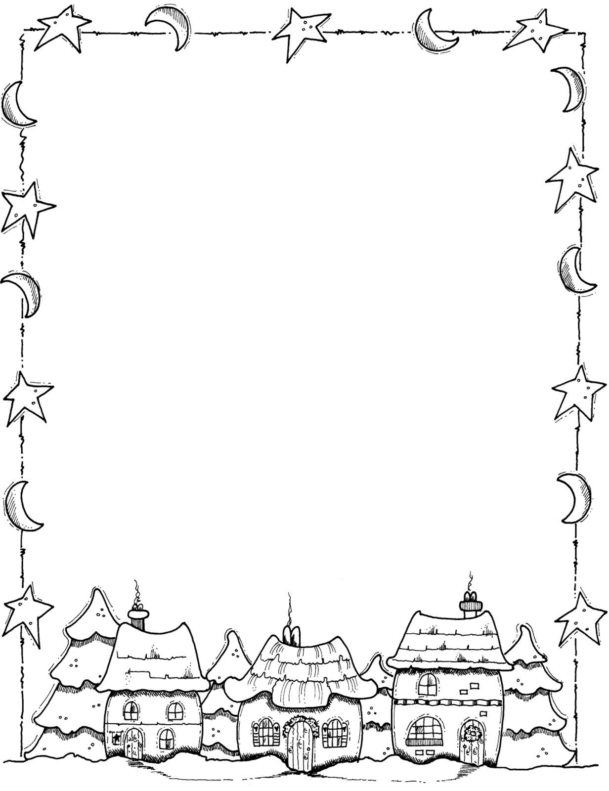 christmas holly border coloring pages - photo#22