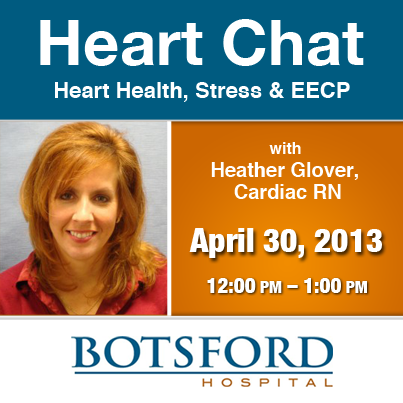 Have stress in your life? Join our live chat to help your heart: https://www.facebook.com/events/161802757316744/