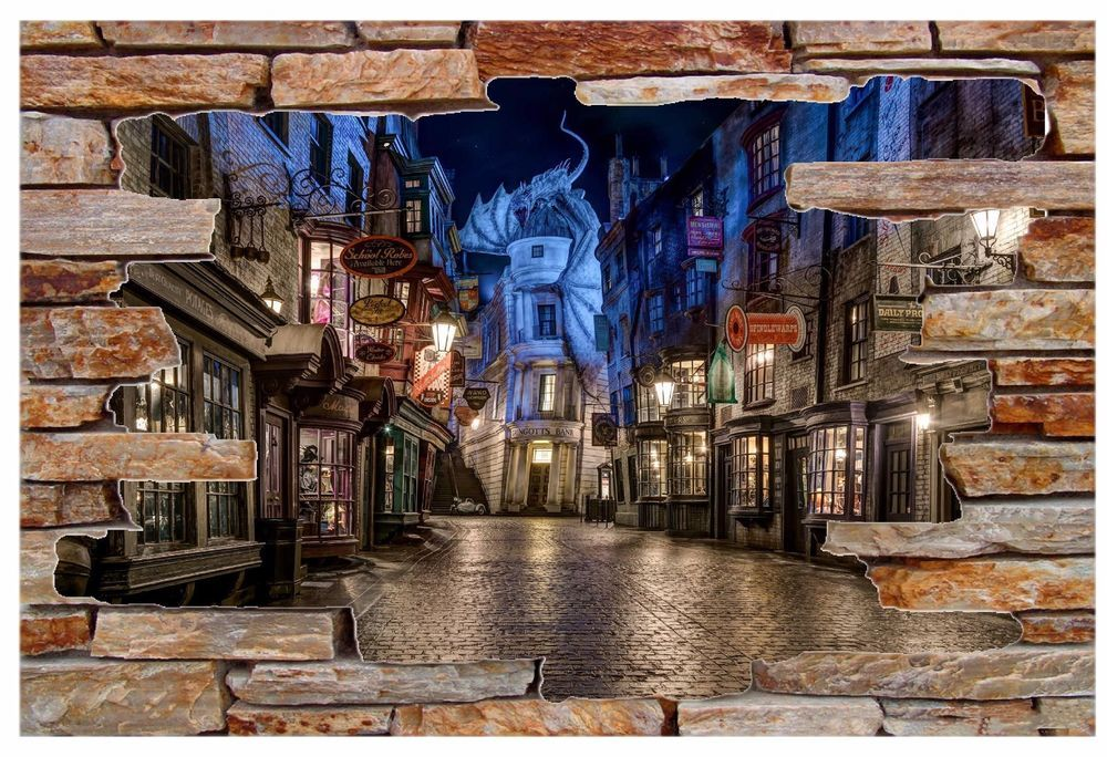 Details about Harry Potter Diagon Alley Rock Wall Decal