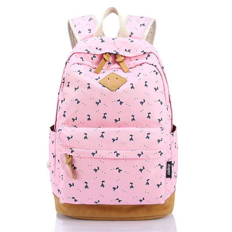 47.08$  Watch now - http://vieyt.justgood.pw/vig/item.php?t=16eynh42573 - Cute Animal Printing Backpack Student Schoolbags Canvas School Backpack Big Trav