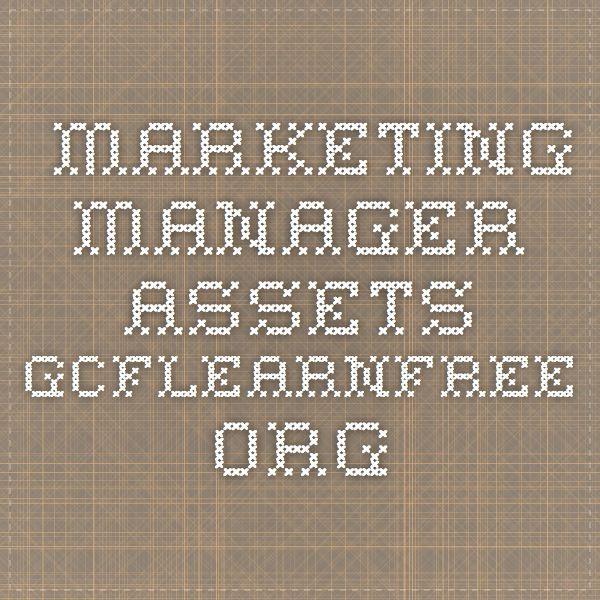 Marketing Manager assetsgcflearnfreeorg Resume Pinterest Pdf