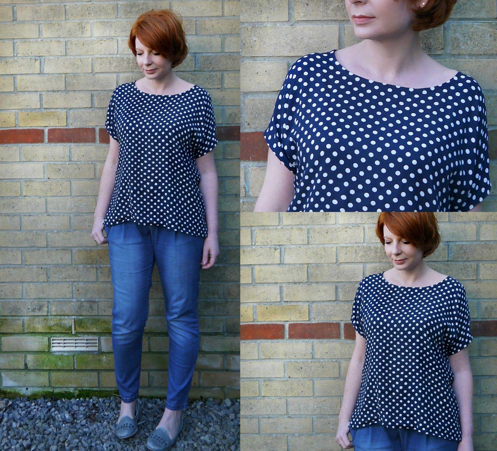 Refashion Polka Dot skirt to Tee Diy clothes refashion