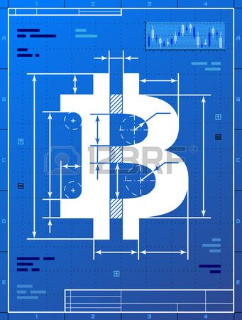 Bitcoin sign like blueprint drawing stylized drafting of money bitcoin sign like blueprint drawing stylized drafting of money symbol on blueprint paper qualitative stock vector malvernweather Image collections
