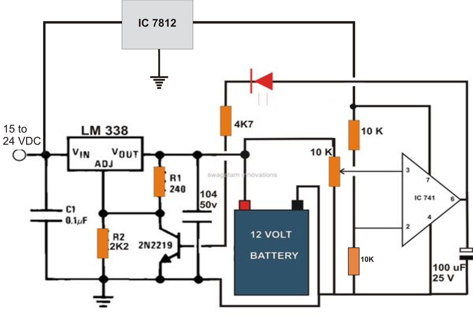 24 volt battery charger diagram wiring diagram insidethe post explains a 6v 12v 24v lead [ 1559 x 1045 Pixel ]