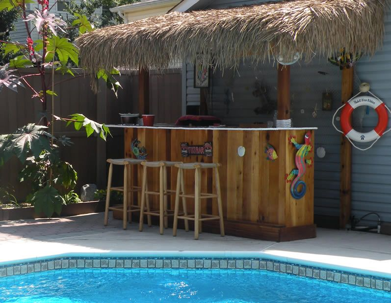 Free Tiki Bar Plans  Step-by-Step DIY Tiki Bar Plans ...