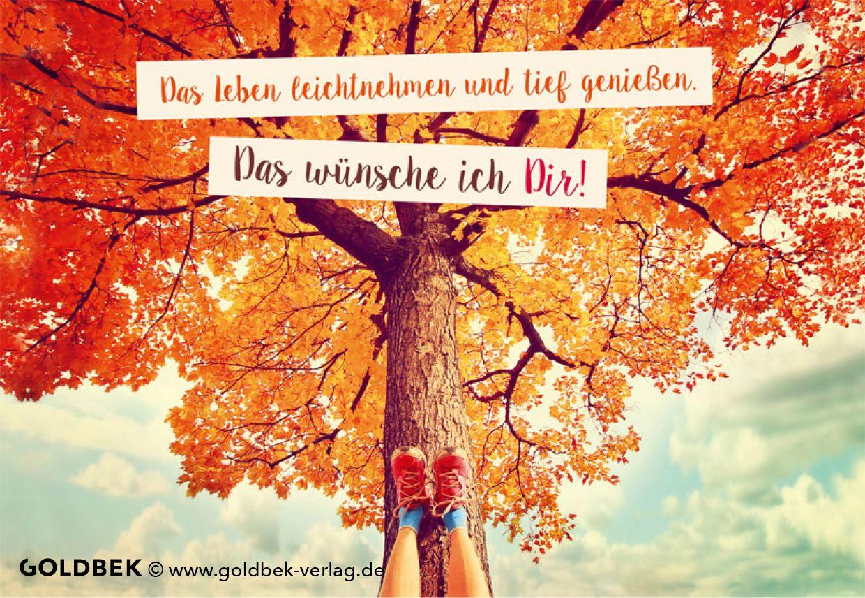 Postkarten Herbst Das Leben Leicht Nehmen Und Tief Geniessen Das