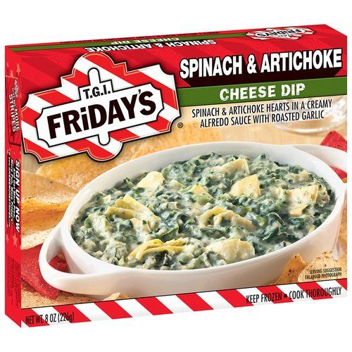 Tgi Fridays Spinach Artichoke Cheese Dip 8 Oz Box Walmart Com Spinach Artichoke Quick Appetizers Spinach And Cheese