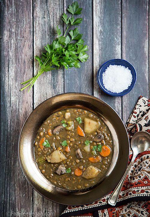Homestyle Lentil Soup | Recipe | Food | Vegan lentil soup ...