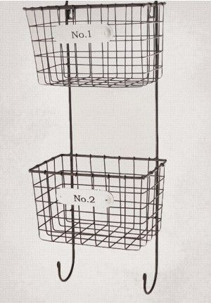 Hanging Baskets Wall Wire Basket Storage