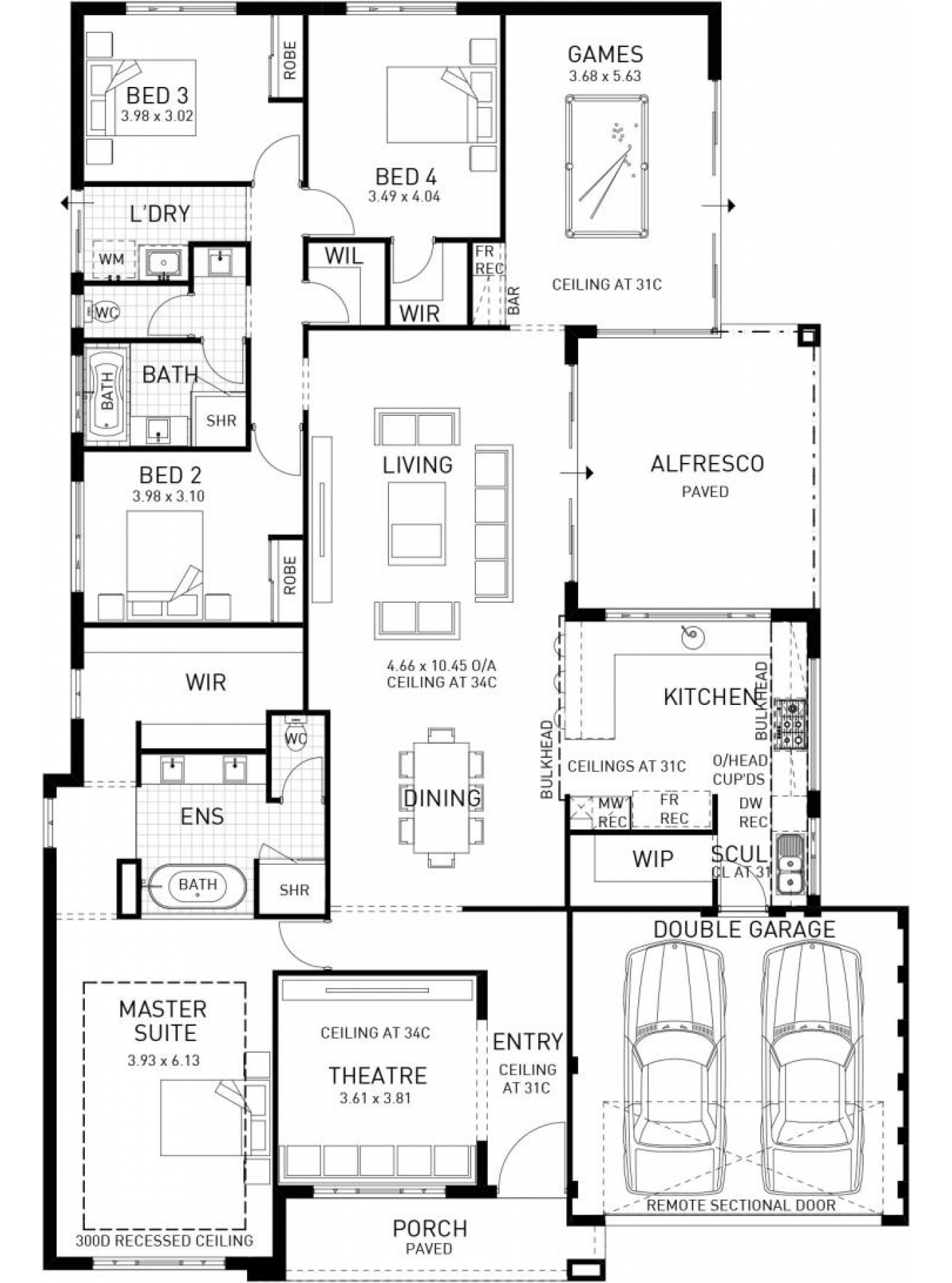 The Modena Display Home By Plunkett Homes In Chianti Waters Woodvale Perth Newhousing Com Au Home Design Floor Plans 4 Bedroom House Plans New House Plans