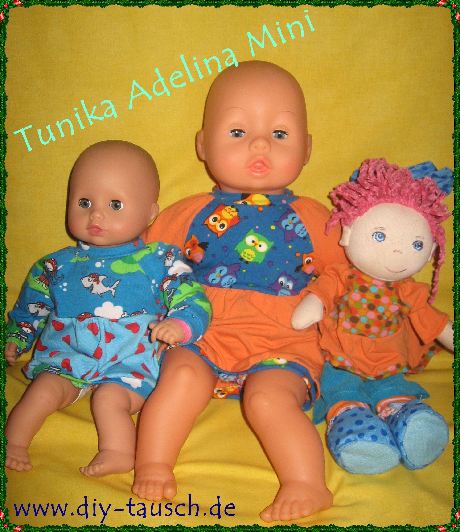 Tunika Adelina Mini für Puppen - verschiedene Größen - DIY Tausch ...