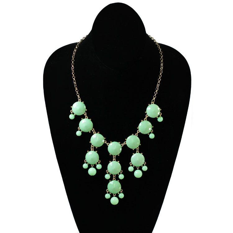 HandPicked: Mint Green Bauble Necklace - $16.00