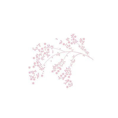 LittleLion Studio Blossom Branch Monochromatic Wall Decal Color: Light Pink