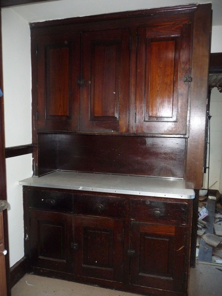 Antique Craftsman Style Butlers Pantry Cabinet C. 1910 Fir Architectural  Salvage - Antique Craftsman Style Butlers Pantry Cabinet C. 1910 Fir