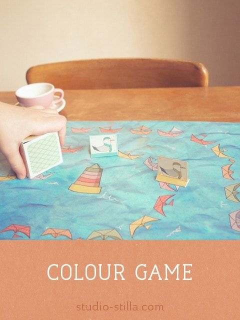 Printable color game for kids. Play and teach at the same time ...