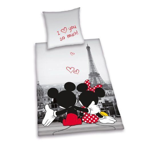 mickey mouse minnie mouse micky maus minni maus bettw sche f r verliebte i love you so much. Black Bedroom Furniture Sets. Home Design Ideas