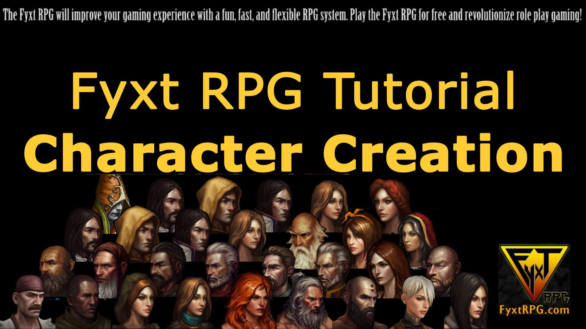 Fyxt Rpg Character Creation Tutorial Video