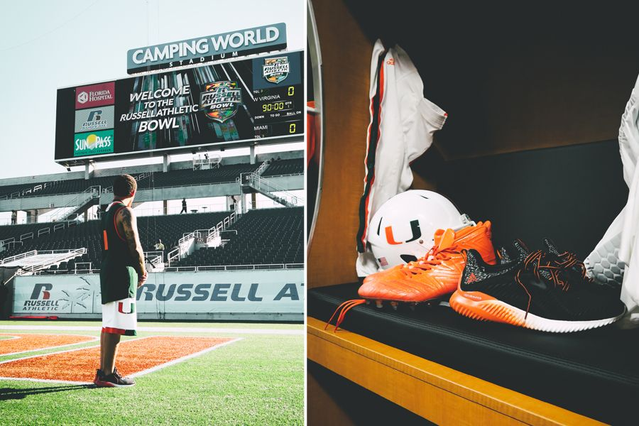 designer fashion 7cb22 93e92 My Journey Inside the 2016 Russell Bowl with the Miami Hurricanes and adidas  AlphaBOUNCE PE | Nice Kicks