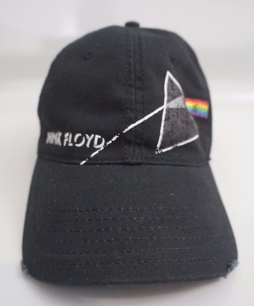 00c65783f27 Concept One Pink Floyd Dark Side of the Moon Distressed Black Hat Cap   ConceptOne  BaseballCap