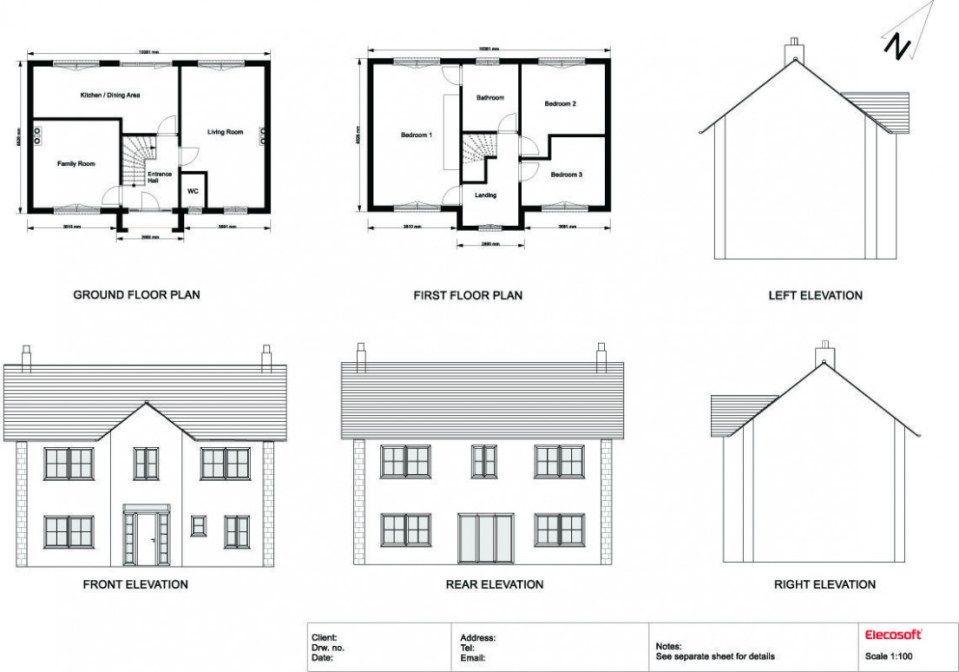 How Plan Elevation And Section Drawings Can Increase Your Profit Plan Elevation And Section Drawings House Layout Plans Simple Floor Plans House Floor Plans