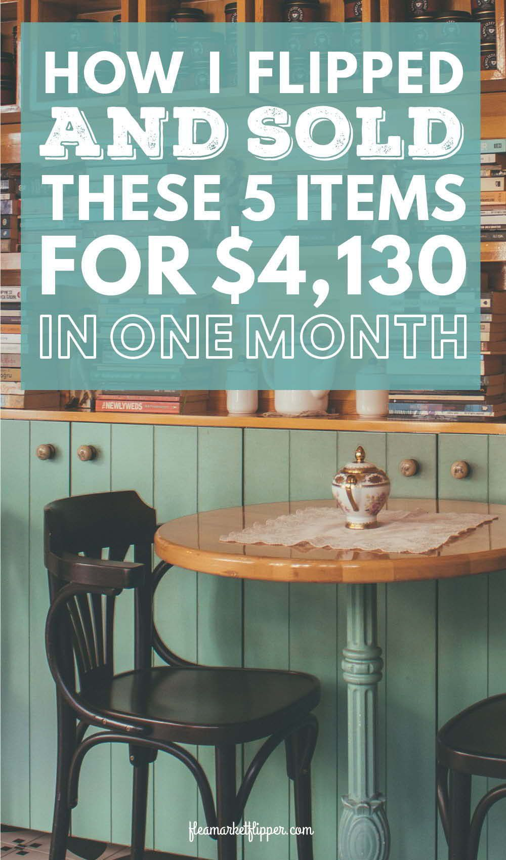 How we made 4,130 in 1 month of flipping flea market