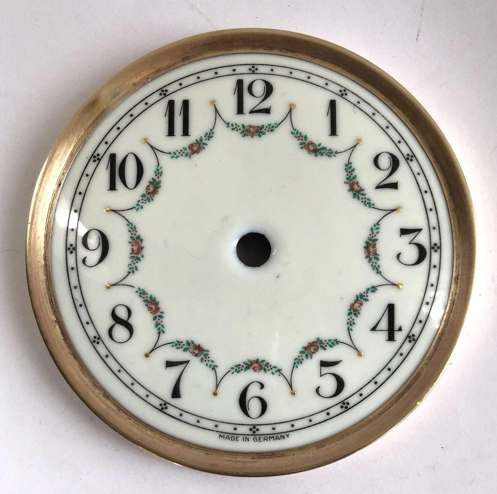 Antique Germany Porcelain Clock Dial Brass Rim Excellent Condition Ebay Clock Antique Clocks Antiques