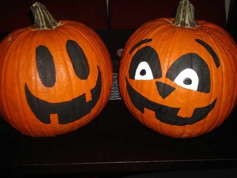 Kurbis Bemalen Ideen Kurbisbemalen Kurbis Bemalen Gesicht Painted Pumpkins Pumpkin Designs Painted Small Pumpkin Designs
