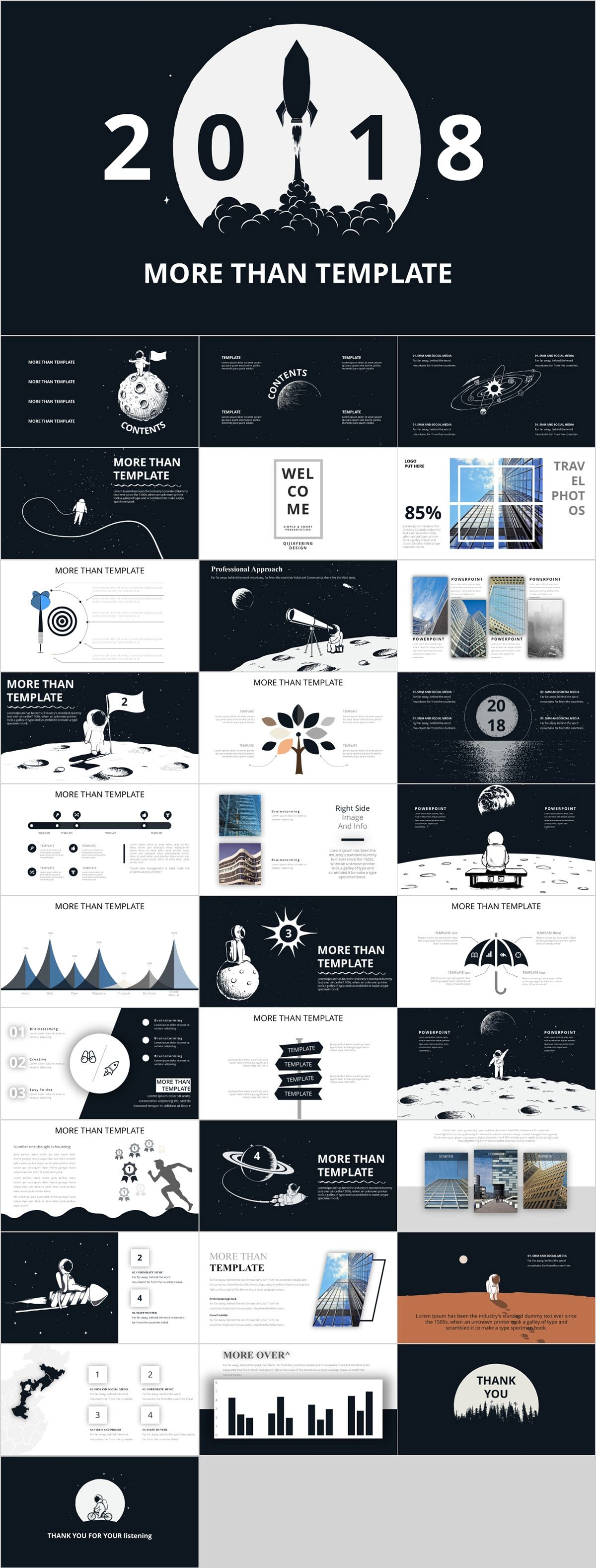 32 Best Annual Report Black Powerpoint Templates Downl On