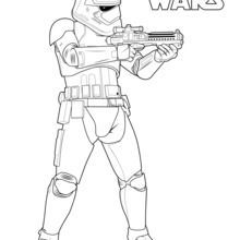 Stormtrooper Of The First Order Coloring Page Star Wars Coloring Book Star Wars Colors Star Wars Prints