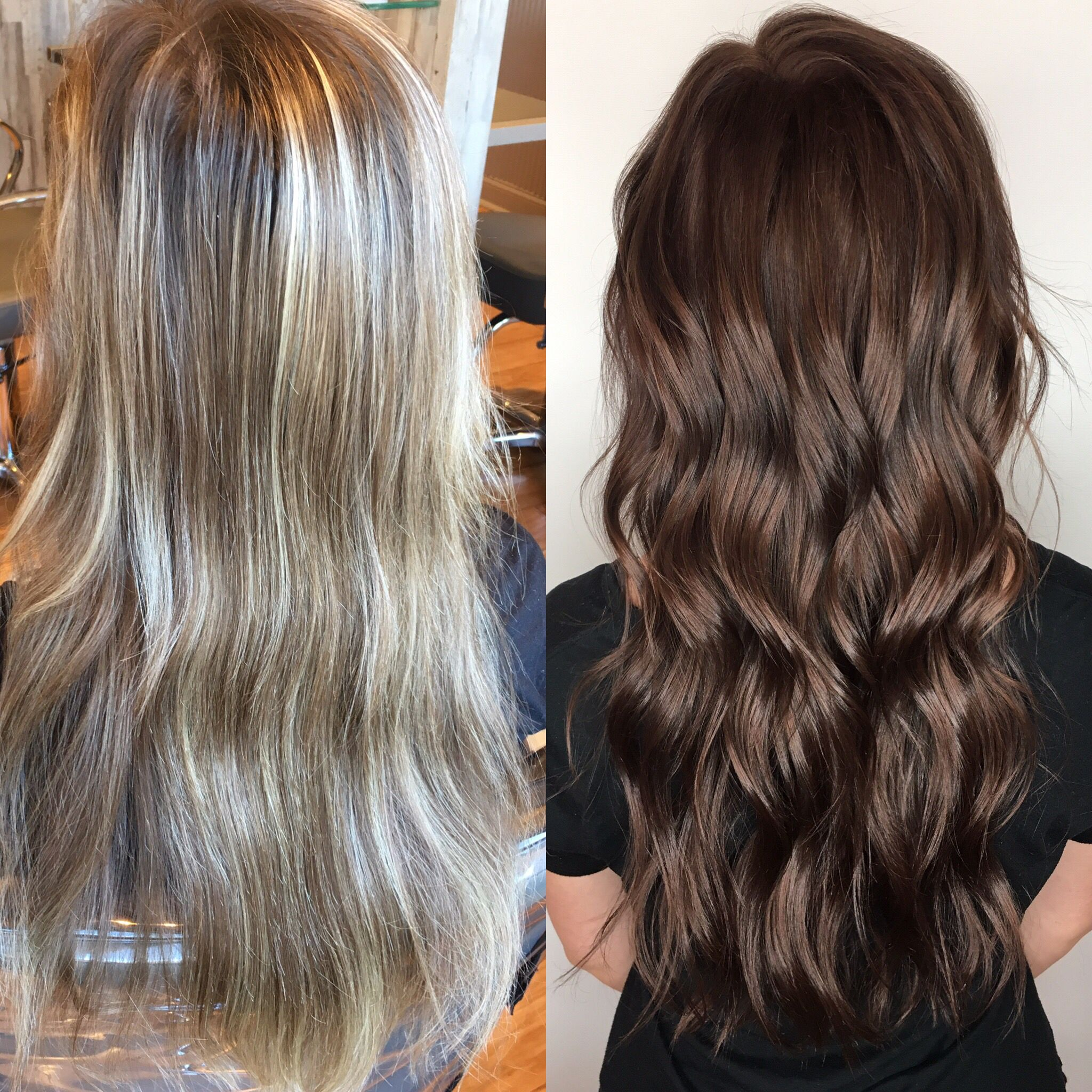 Blonde To Brunette Brunette Hair Color Hair Dark Brunette Hair
