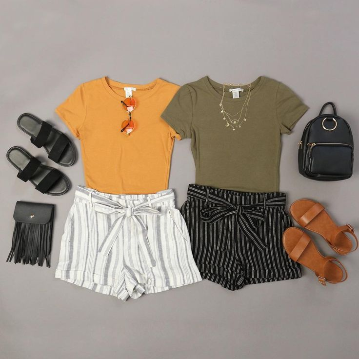 Photo of Road Trip Striped Linen Shorts