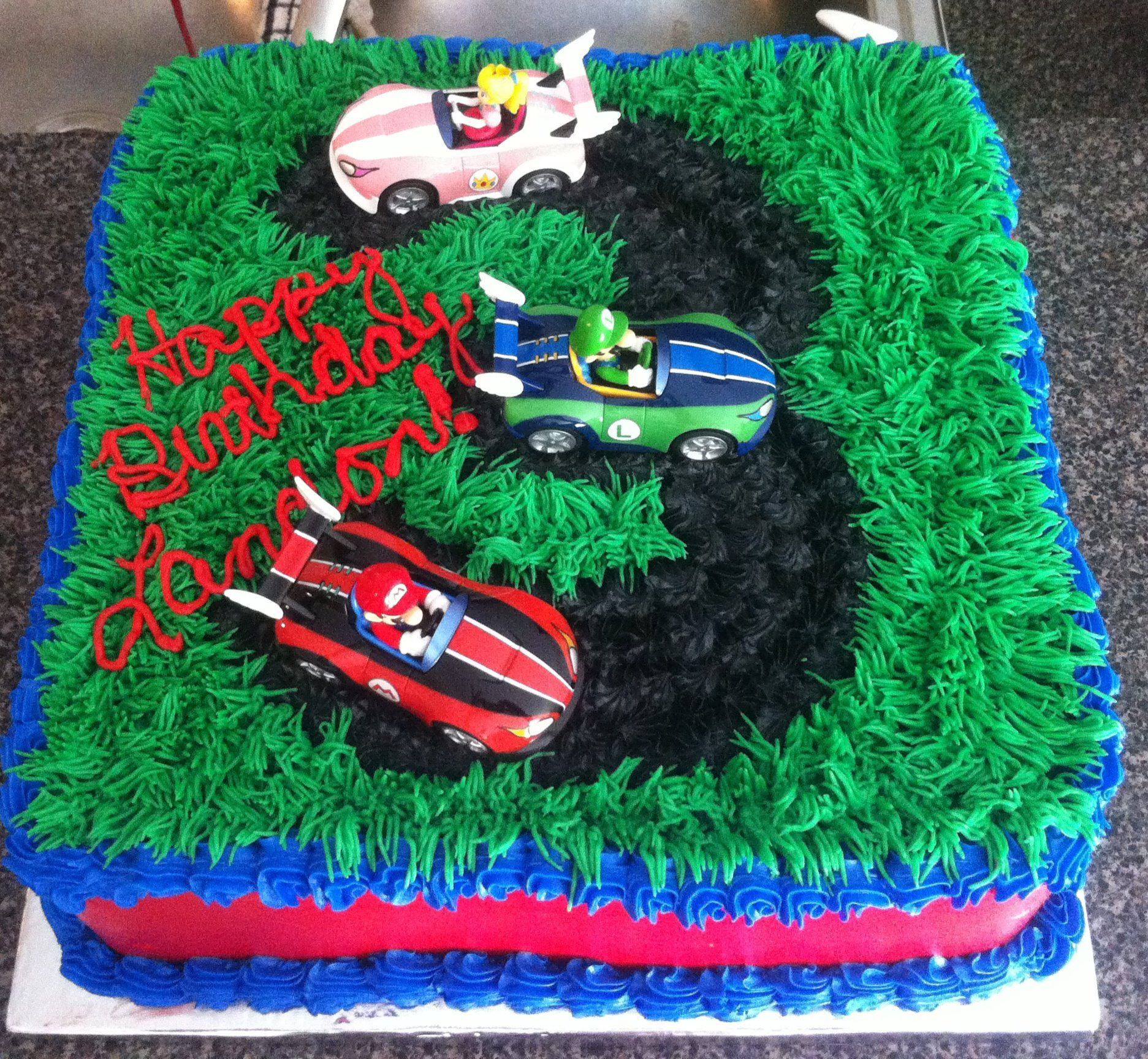 Mario cart cake mario bros cake mario kart cake