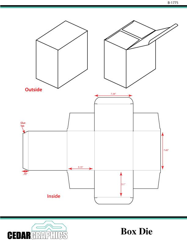 Adobe Illustrator and InDesign Templates for a Small Box ...