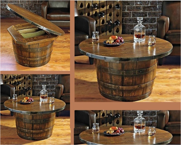 Wine whiskey barrel coffee table tips on how to make it for Diy whiskey barrel bar