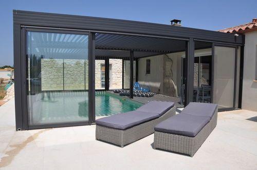 Pergola bioclimatique- la toiture terrasse géniale par Biossun - modeles de maison a construire