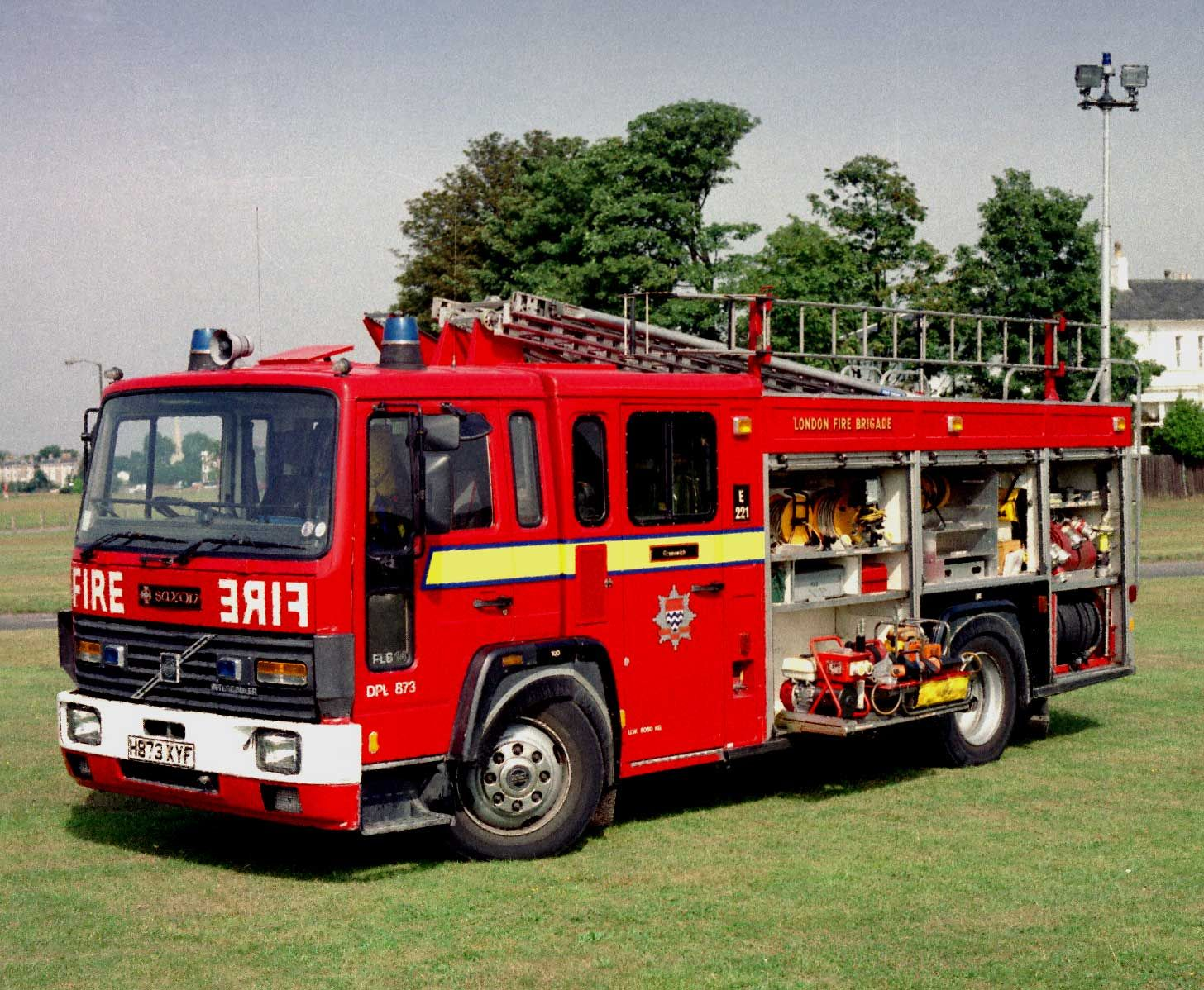 Big Red Fire Engine In Service With The London Fire Brigade With