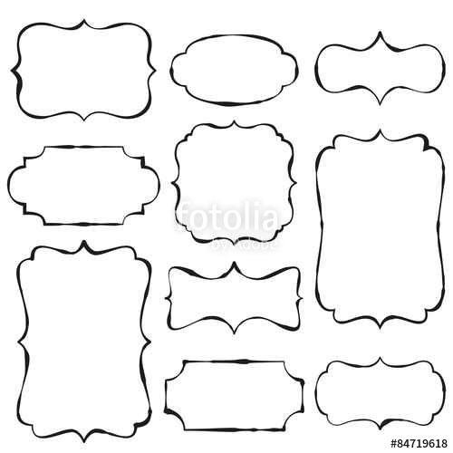 Frame Design Doodle Frames Doodles Drawing Stencils