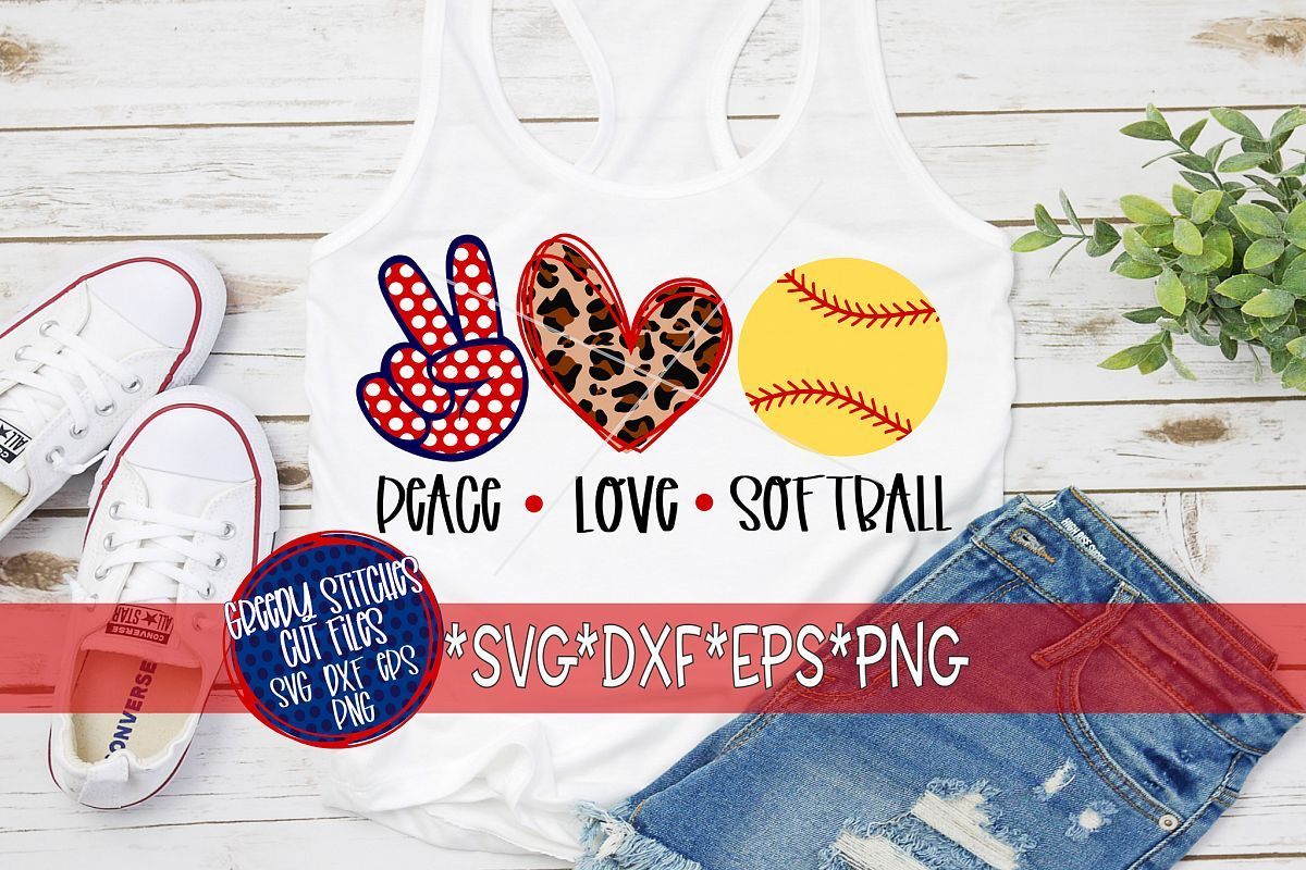 Download Peace Love Softball SVG, DXF, EPS, PNG Files (424743 ...