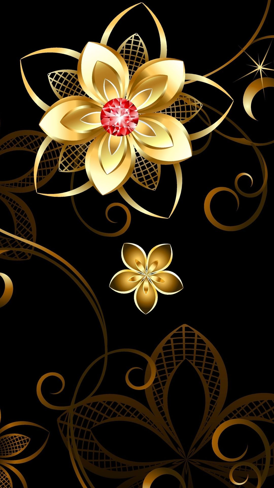 Awesome High Definition 3d Wallpapers For Desktop Golden Flower Check More At Finewallpaperseu Pin 18206