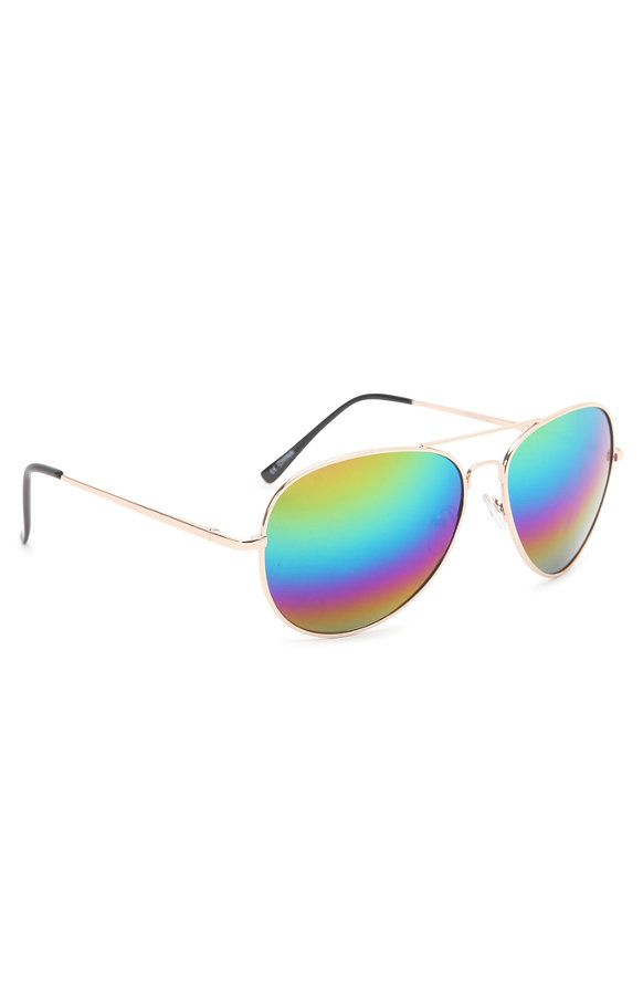 54ec599d2c Rainbow Lens Aviator Sunglasses