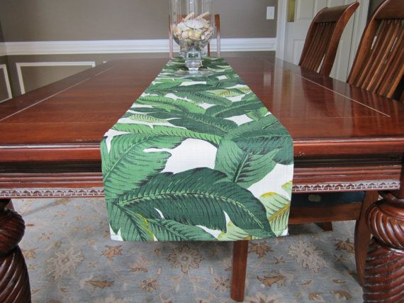 Table Runner   Tropical Palm Leaf   Palm Springs   Martinique   Beverly  Hills Hotel