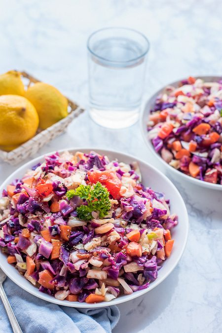 Yummy Multi-Colored Cabbage Stir-Fry Recipe #cabbagestirfry
