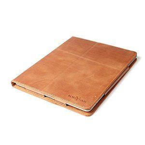 Boriyuan Real Genuine Leather Case Smart Pen Holder Cover For Apple iPad Pro 9.7