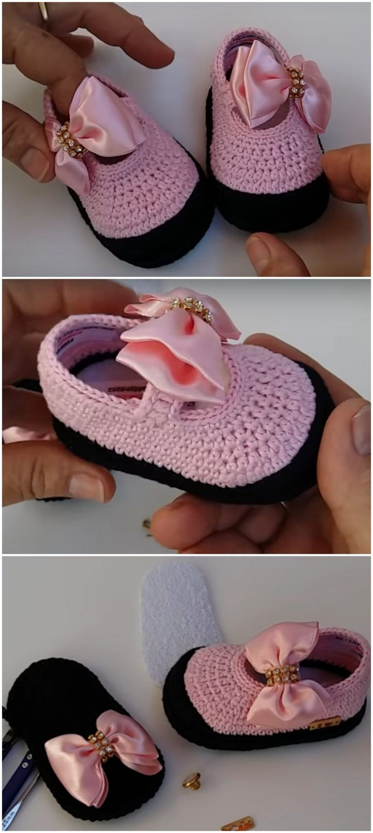 Photo of Crochet Baby Girl Princess Shoes – We Love Crochet
