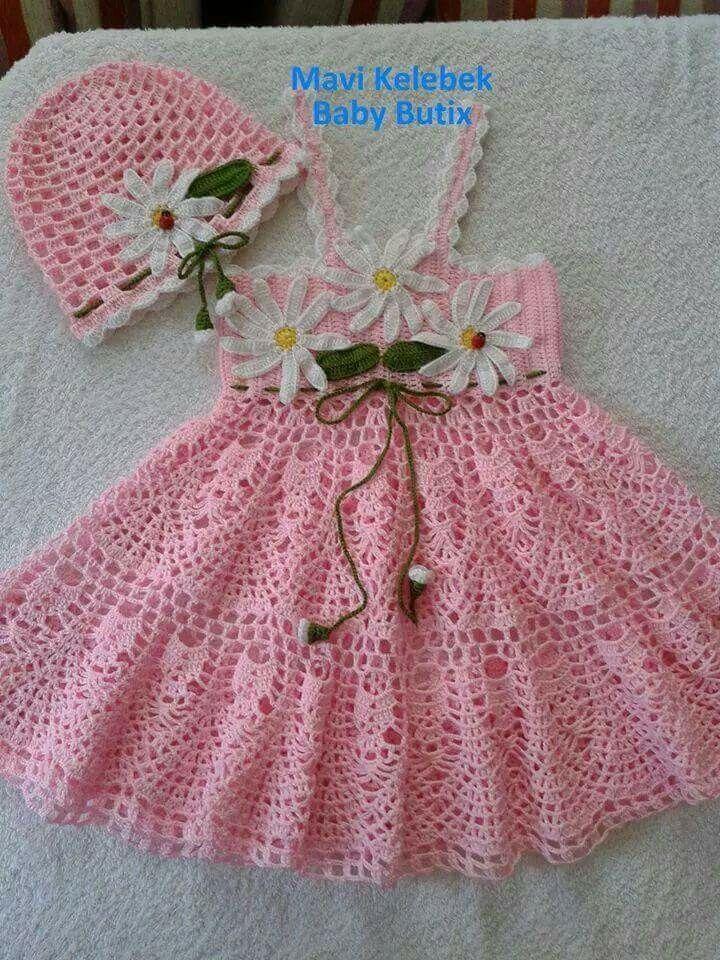 Pin von Susan Jones auf Children\'s Crocheted Dresses   Pinterest ...