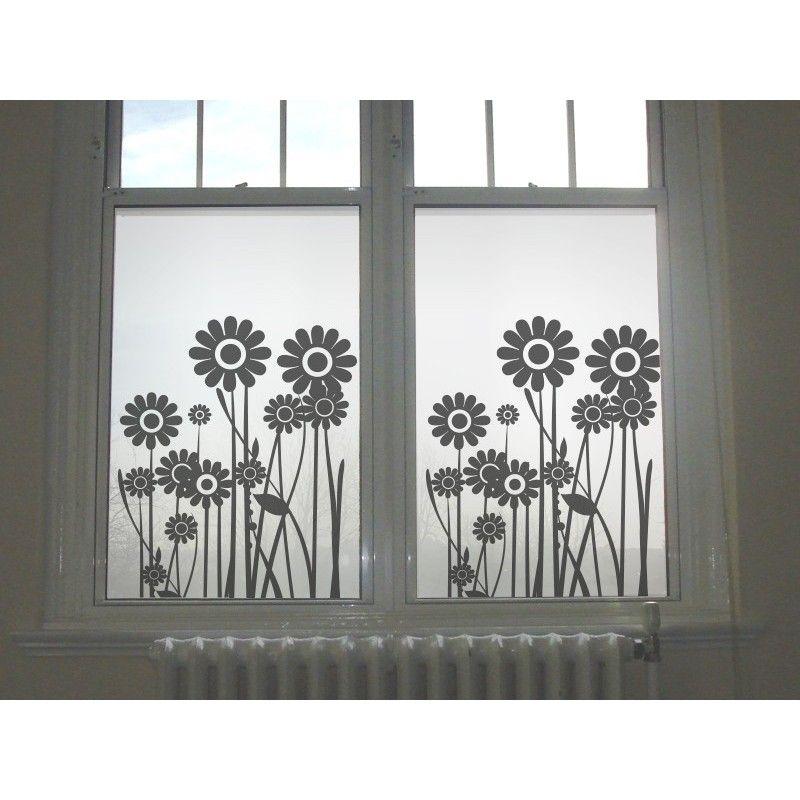 Vinilos flores cristal esmerilados - Vinilo para vidrios ...