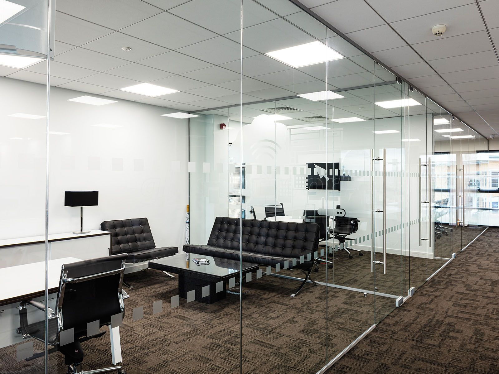 glass office dividers glass. Glass Partitioning At Millgate Connect (Sheffield): Mulitple Interior Wall. Office PartitionsPartition Dividers