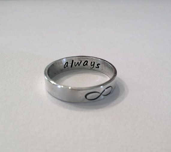 Personalized Band Infinity ring by laureltreasures on Etsy, $37.00